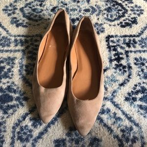 Jcrew suede pointed flats